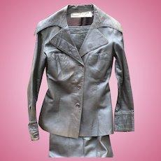 1970's Mod Leather Pant Suit
