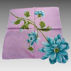 Pink Dahlia Handkerchief