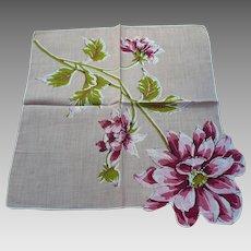 Beige Dahlia Handkerchief