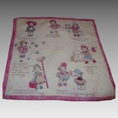 Monday's Child Handkerchief