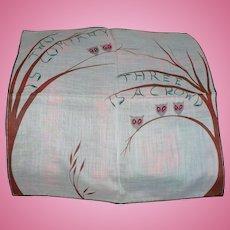 Twos Company Handkerchief