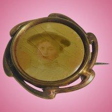 Victorian Brass Photo Pin
