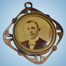 Double Sided Victorian Photo Charm