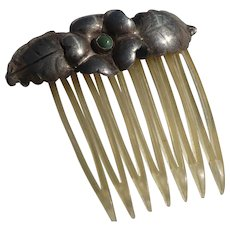 Celluloid Silver Hair Comb