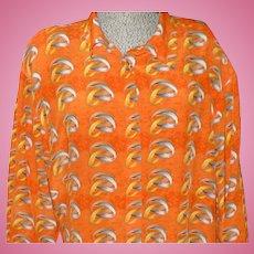 Silk Bakelite Bracelet Pattern Blouse Shirt