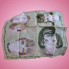 Ann McCann Lady Faces Handkerchief