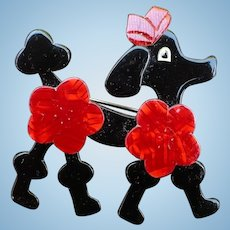 Lea Stein Poodle Pin