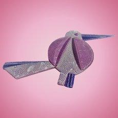 Lea  Stein Purple Bird