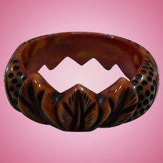 Overdye Carved Bakelite Bracelet