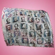 1954 Presidents Handkerchief