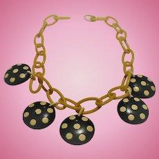 Polka Dot Bakelite Necklace