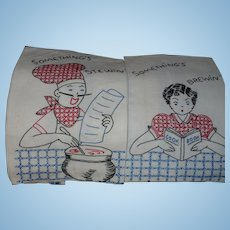 Embroidered Chef Cook Towels