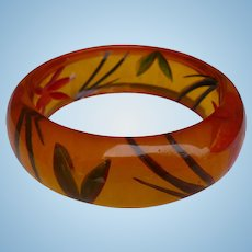 Reverse Carved Bakelite Bracelet