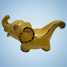 German Ceramic Elephant Pipe Rest