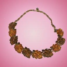 Lisner Autumn  Leaf Necklace