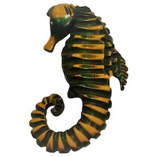Bakelite Overdye Seahorse Pin