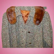 Britainaire Tweed Mink Walking Suit