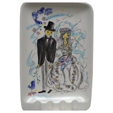 Bride Groom Ceramic Ashtray