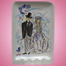 Bride Groom Ceramic Ashtray