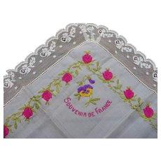 Souvenir France Silk Handkerchief