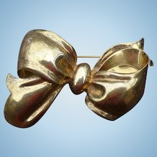 Monet Sterliing Bow Pin