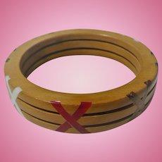 Wood Bakelite X Bracelet