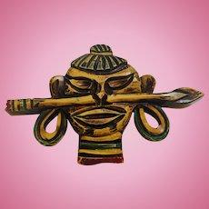 Bakelite Warrior Pin