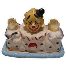 Ceramic Butter Cheese Clown Dish