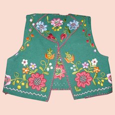 Embroidered TYrolean Childs Vest