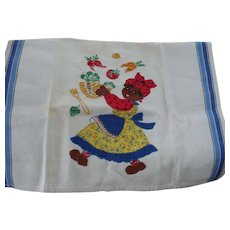 Mammy Vegetables Hand Stitched Towel