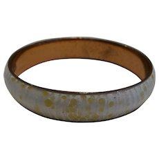 Matisse Renoir White Enamel Copper Bracelet