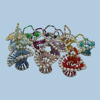 Safety Pin Beaded Little Baskets 12