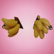 Celluloid Banana Earrings