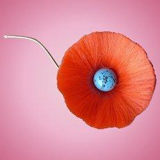 Hattie Carnegie Fber Flower Orange