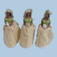 1957 Chalkware Bridesmaid Cake  Toppers (3)