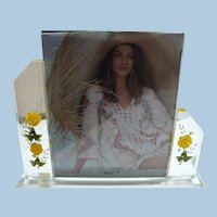Lucite Carved Picture Frame
