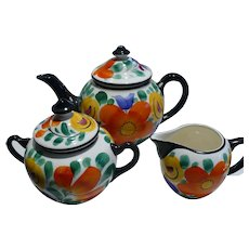 Czech Teapot Cream & Sugar