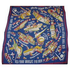 1939 Worlds Fair New York Scarf