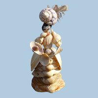 Folk Art Shell Lady