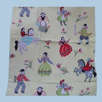 Penn Dutch Figures Fabric