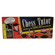 Vintage 1972 E S Lowe Chess Tutor Board Game