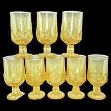 Vintage Corn Silk Franciscan Cabaret Iced Tea Goblets by Tiffin Glass Co.