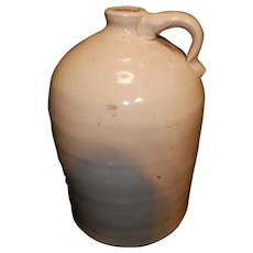 Antique Hand Thrown Stoneware Whiskey Jug