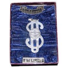 "Vintage NIB Propeller and Wings ""Guildcrest"" Sterling Dollar Sign Money Clip"