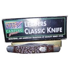 Vintage Camillus BSA #1900 Boy Scout Classic Leader's Pen Pocket Knife. NIB