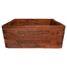 Vintage Winchester Wooden Factory Ammo Box for 30-30 Bullets