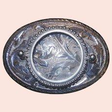 Vintage Sterling Silver 925 Silver Dollar Holder Belt Buckle