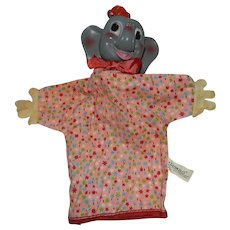 Vintage Gund Dumbo the Elephant Hand Puppet