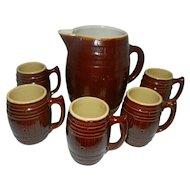 Vintage McCoy Pottery Beer or Cider Set