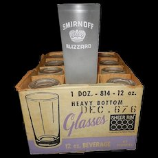 Vintage Smirnoff Advertising Glassware